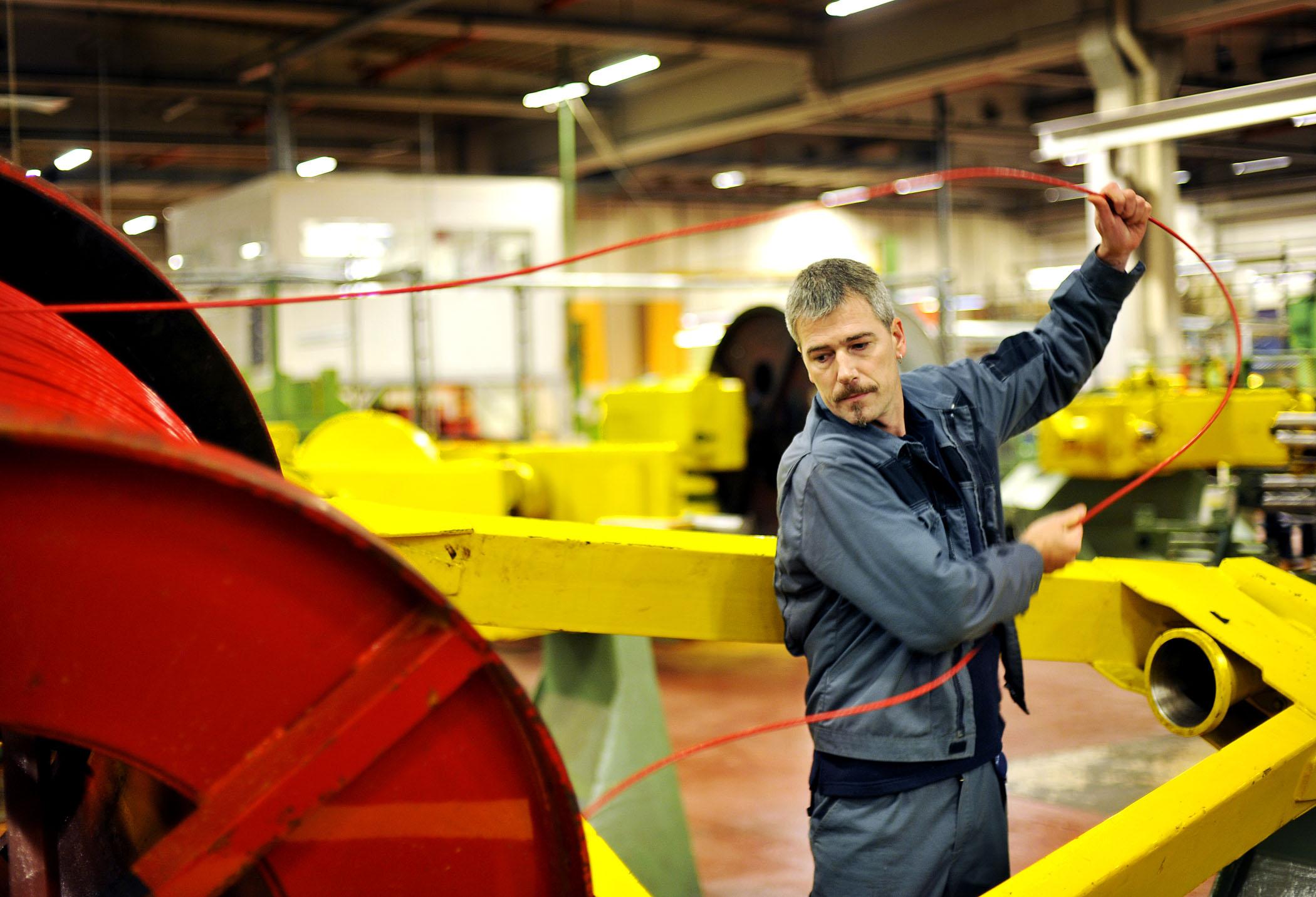 Nexans kabelfabrikk i Rognan, Saltdal. Børe Spørck