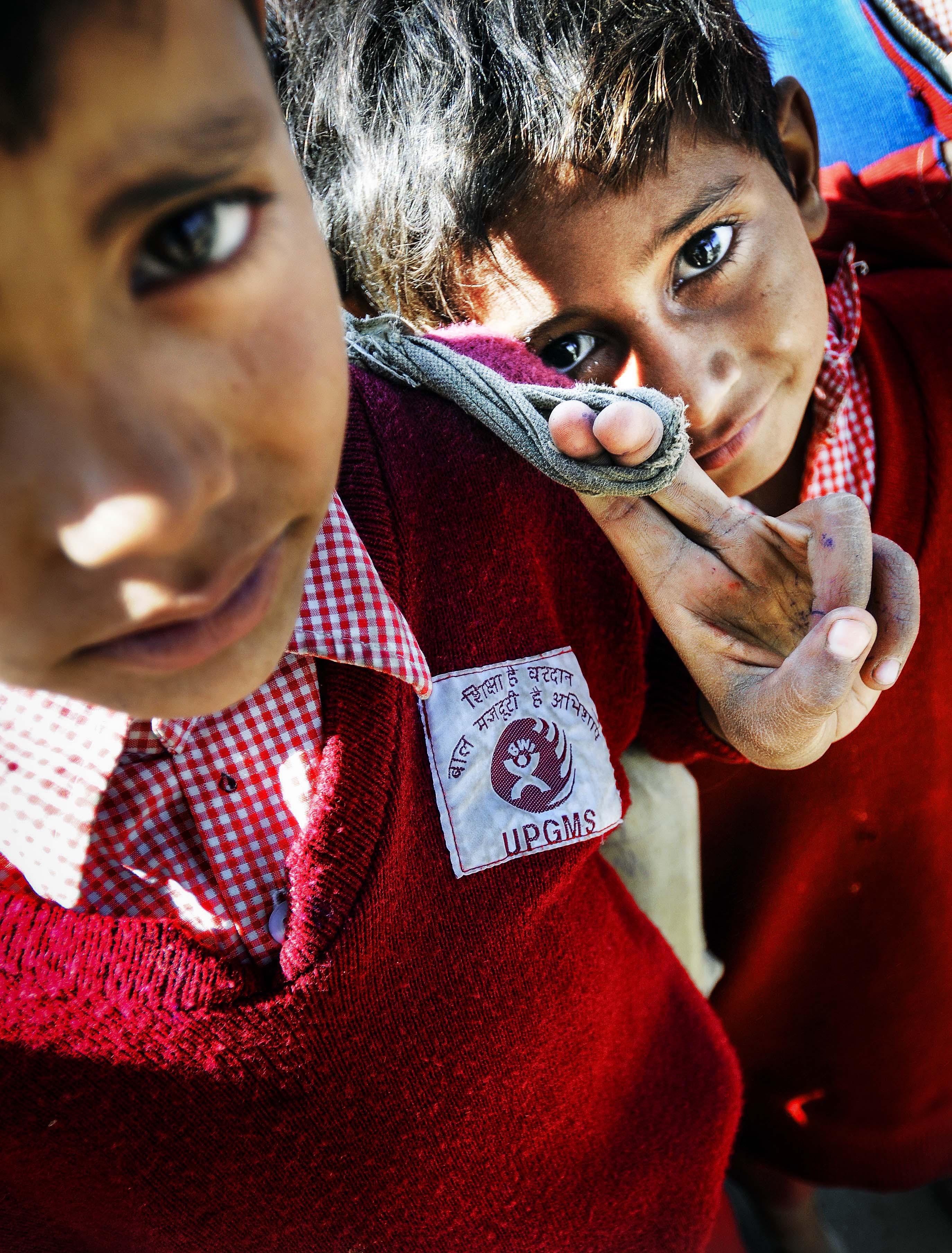 India. Skoleprosjekt i Agra støttet av BWI.