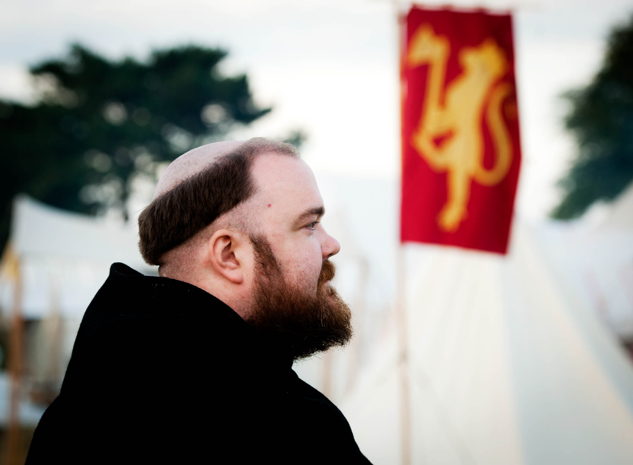 Middelalderfestival i Visby. Gjennskaping av slag i 1361 hvor soldater fra danskekongens hær regelrett slaktet den svenske bondehæren.